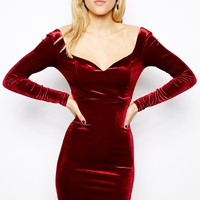 ASOS Velvet Sweetheart Body-Conscious Dress
