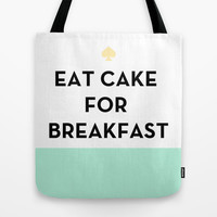 Eat Cake for Breakfast - Kate Spade Inspired Tote Bag by Rachel Additon