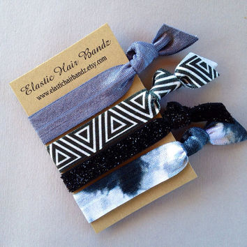 The Lindsay Hair Tie-Ponytail Holder Collection by Elastic Hair Bandz on Etsy