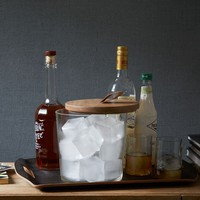 Wood Topped Ice Bucket