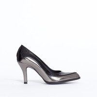 Totokaelo - Jil Sander Two Tone Metallic Pump - $680.00