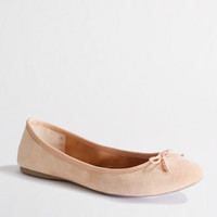 FACTORY CLASSIC SUEDE BALLET FLATS