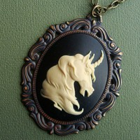Unicorn a Victorian Cameo by SimplyChacha on Etsy