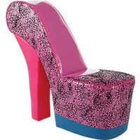 Well-Heeled Pink Leopard Chair