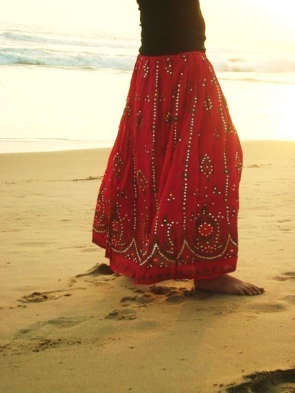 maxi skirt south indian peacock print from
