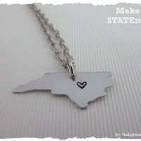 North Carolina State Necklace - Make a STATEment