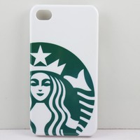 Starbucks Coffee Seatle Latte Iphone 4 4S Case Cover,Plastic Shell Hard Case Cover