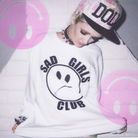 SAD GIRLS CLUB OVER SIZED SWEATER — NIKKI LIPSTICK