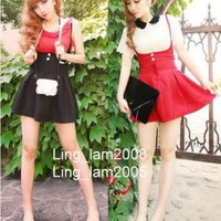 *5 COL* Kawaii JAPAN TRENDY GOTHIC PUNK Princess BOW HIGH WAIST SKIRT