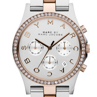 MARC BY MARC JACOBS 'Henry' Chronograph & Crystal Topring Watch, 40mm