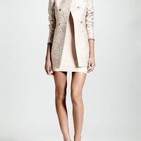 Stella McCartney Double-Breasted Python-Print Blazer & Cut-In Sleeveless Sheath Dress