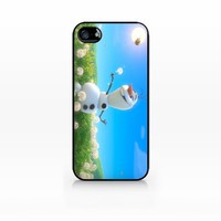 Olaf, Disney Frozen-iphone 5 case, iphone 5s case, Hard Plasic, Black case SCC-IP5-008 BLACK