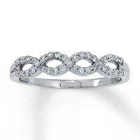 Diamond Ring 1/3 ct tw Round-cut 14K White Gold