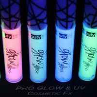 LILAC GLOW in the DARK Lip Gloss, Rave Lip Gloss, Black Light, UV Reactive