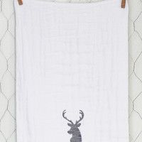 Grey & Lavender Deer Burp Cloth