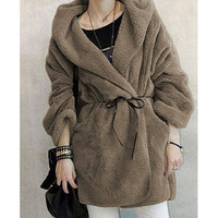 Loose Hooded Winter Coat from Pop and Shop
