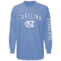 North Carolina Tar Heels (UNC) Big Arch & Logo Long Sleeve T-Shirt - Carolina Blue