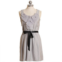 hoping for romance gray ruffle dress - &amp;#36;36.99 : ShopRuche.com, Vintage Inspired Clothing, Affordable Clothes, Eco friendly Fashion