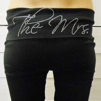 The Mrs Yoga Pants. MRS. Yoga Pants. Bride Yoga Pants. Bridal Yoga Pants. Bride Sweatpants. Bridal Sweatpants. Bride Gift. Wifey Yoga Pants.