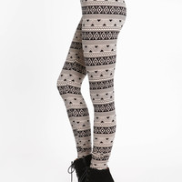 MINIMALIST TRIBAL PRINT LEGGINGS