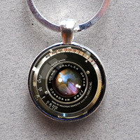 KEYCHAIN, KEY RING, Key Chain, Vintage Camera Lens Graphic Key Ring Graflex Lens Photographer Gift Camera Buff Gift Not an Actual Lens