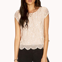 Dainty Sequined Blouse