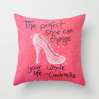 The Perfect Shoe Throw Pillow by Amy Giacomelli
