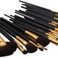 SODIAL(TM) 32 Pcs Elegant Professional Beauty Cosmetic Makeup Brush Set Kit with Free Case