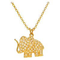 1990 Diamond and Gold Elephant Pendant