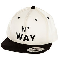 The No Way Snapback in Black and White