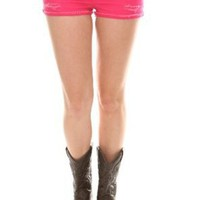 JET John Eshaya Hot Pink Distressed Cut-Off Short Shorts