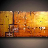 PAINTING HUGE JMJARTSTUDIO ORIGINAL 3 PIECE by JMJARTSTUDIO