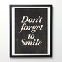 Motivational quote print poster Don&#x27;t forget to by NeueGraphic