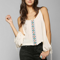 Mono B Friendship Embroidered Blouse - Urban Outfitters