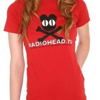 Radiohead TV Bear And Crossbones Girls T-Shirt