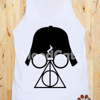 S, M, L -- Deathly Hallows Shirt Darth Vader Shirt Star Wars Shirt Harry Potter Shirt Tank Top Women Shirt Unisex Shirt Vest Top Sleeveless