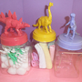 Nursery or Girls Room Decor Plastic Dinosaur Jars by myevilfriend