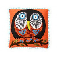 Orange Owl Pillow