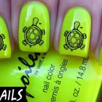 Cute Turtle Nail Decals by YRNails