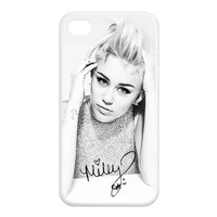 Alicefancy Miley Cyrus Design TPU Cover Case For Iphone 4 4s YQO29026