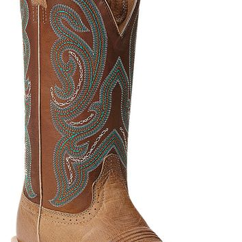 Ariat® Antonia™ Women's Tan with Sassy Brown Top Square Toe Western Boots