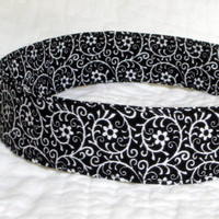 Classic Black & White Fabric Headband Black by NewEnglandQuilter
