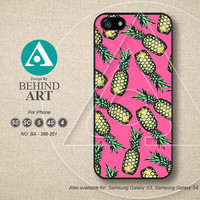 Phone Cases, iPhone 5 case, iPhone 5C Case, iPhone 5S case, iPhone 4 Case, Phone Covers, iPhone 4S Case, pink, pineapple, BA398-201