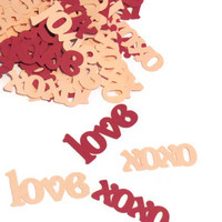 Valentines Day Decor - Love & XOXO Confetti - Valentine Party Supplies - 100 pieces