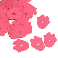 Fun Kisses Confetti - Valentines Day Party Decor - Jumbo Confetti - 100 Pieces