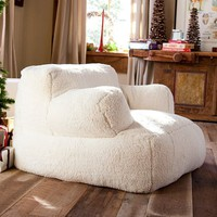 Ivory Sherpa Eco Lounger