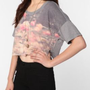 Truly Madly Deeply Midnight Garden Super Cropped Tee