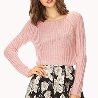 FOREVER 21 Candy-Coated Open-Knit Sweater