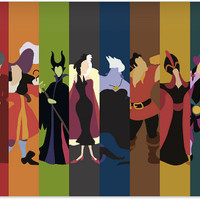 Disney Villians Poster