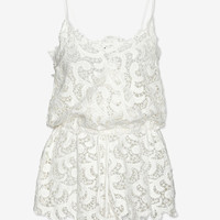 Joy Cioci EXCLUSIVE Crochet Lace Romper-Just In-Clothing-Categories- IntermixOnline.com